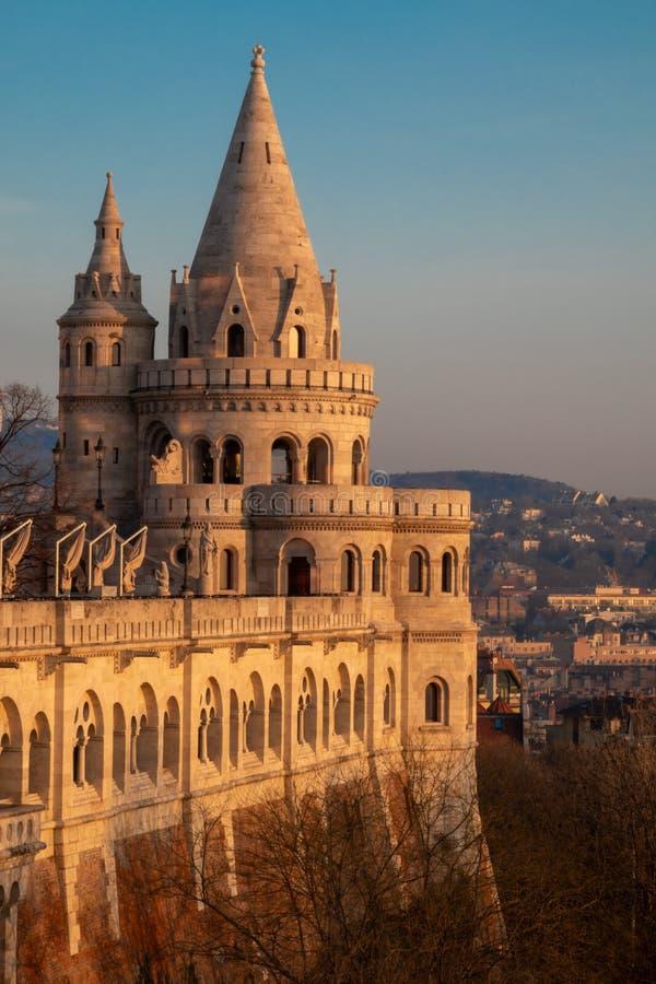 Fischer ` s Bastion in Budapest - Ungarn stockbild