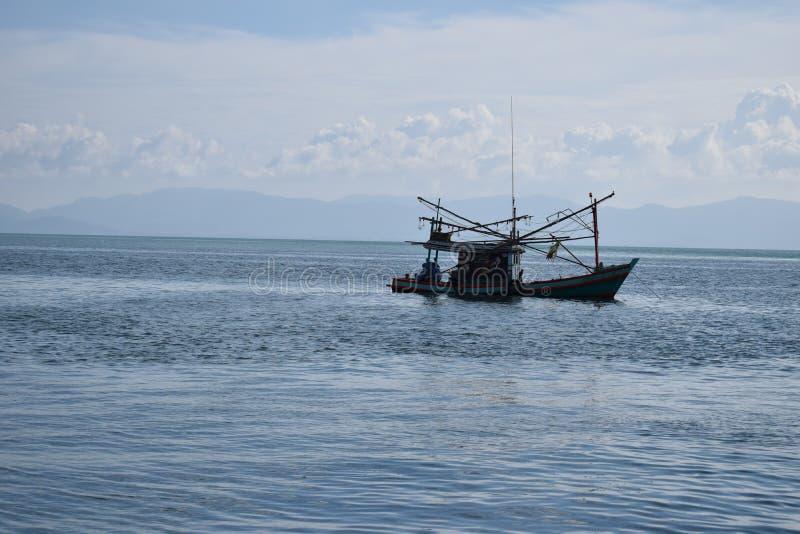 Fischer ` s Boot, Koh Tao lizenzfreies stockbild
