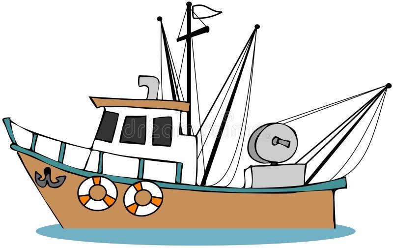 Fischerboot stock abbildung