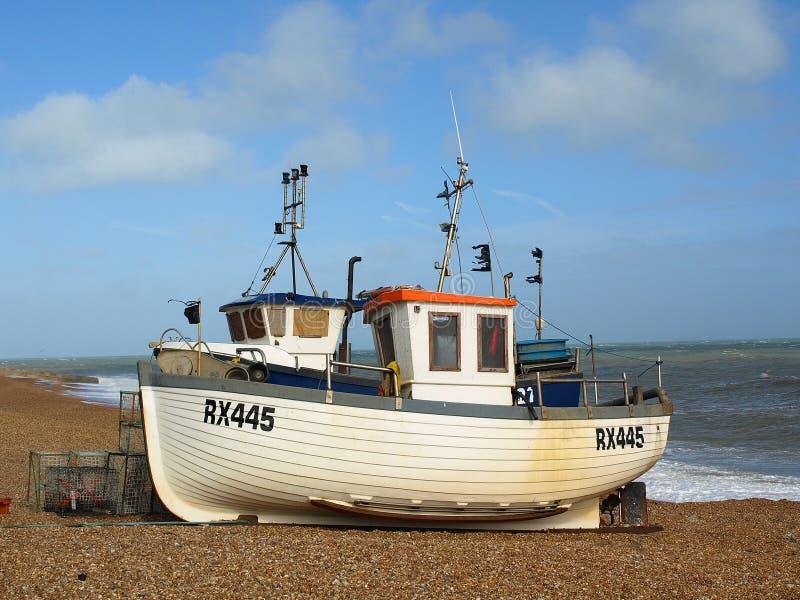 Fischerboot Hastings lizenzfreies stockbild