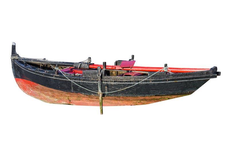 Fischerboot lokalisiert auf weißem Hintergrund stockfotografie