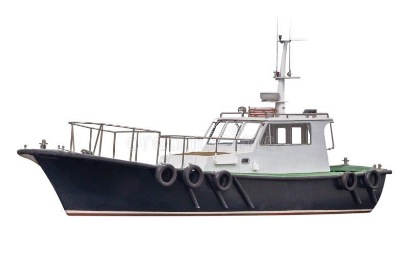 Fischerboot lokalisiert auf weißem Hintergrund lizenzfreie stockfotografie