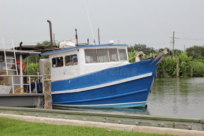 Fischerboot Louisianas lizenzfreie stockbilder