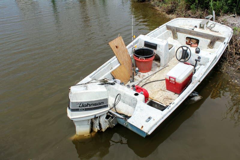 Fischerboot Louisianas stockfoto