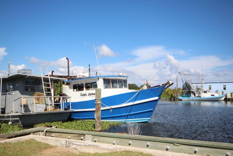 Fischerboot Louisianas lizenzfreie stockfotos