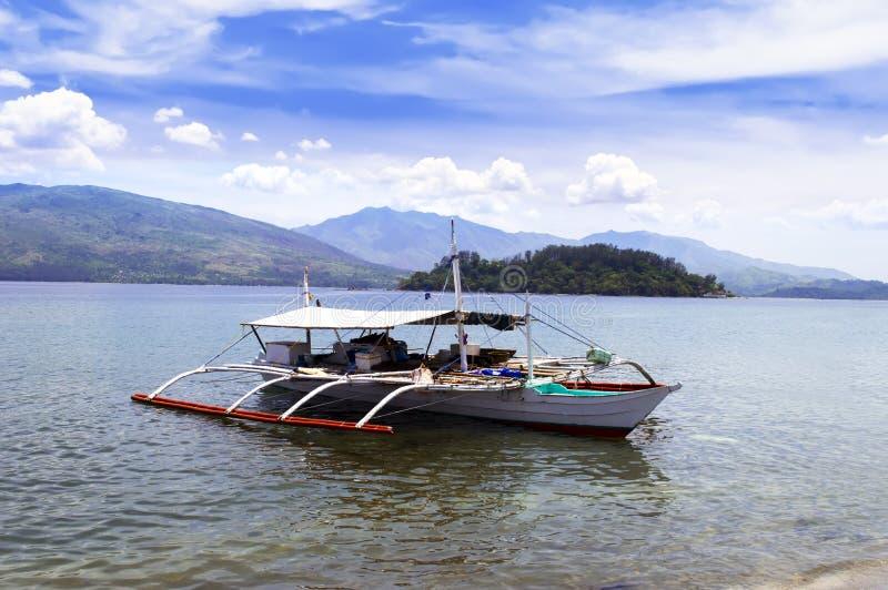 Fischerboot Philippinen. lizenzfreies stockbild