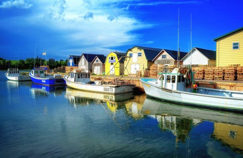 Fischerboot-Prinz Edward Island lizenzfreies stockbild