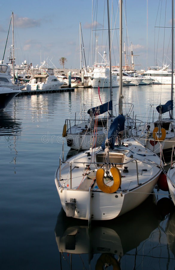 Fischerboote stockbild
