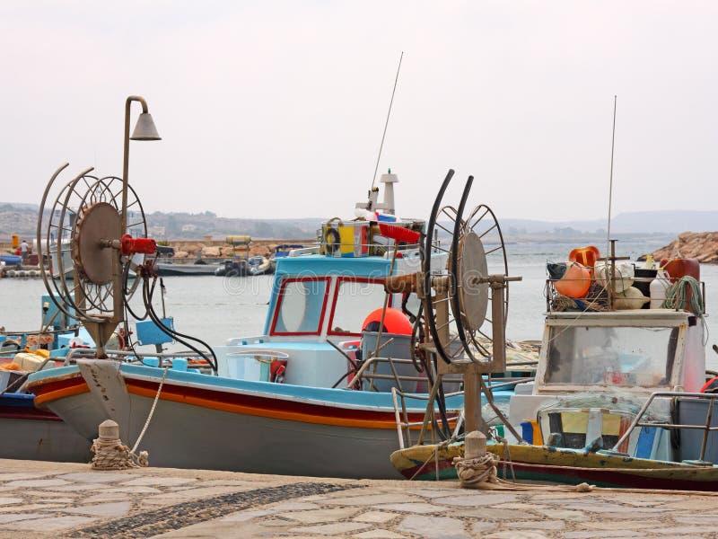 Fischerboote in Agia Napa stockbild