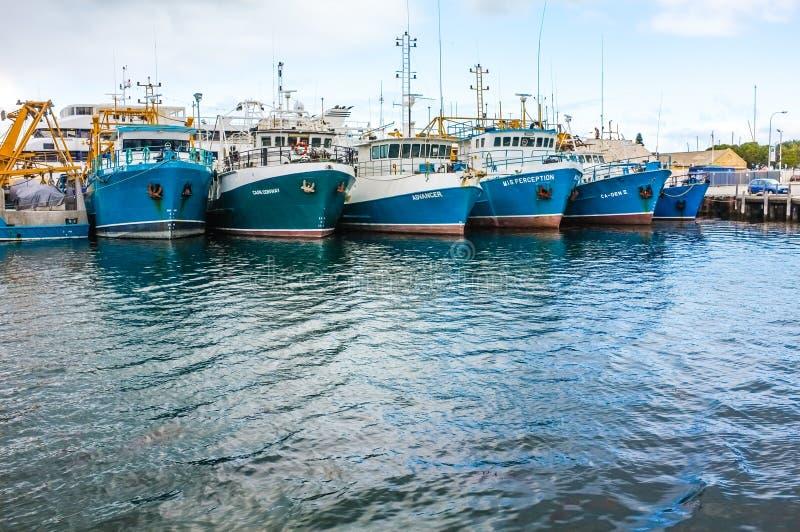 Fischerboote angekoppelt. stockfotografie