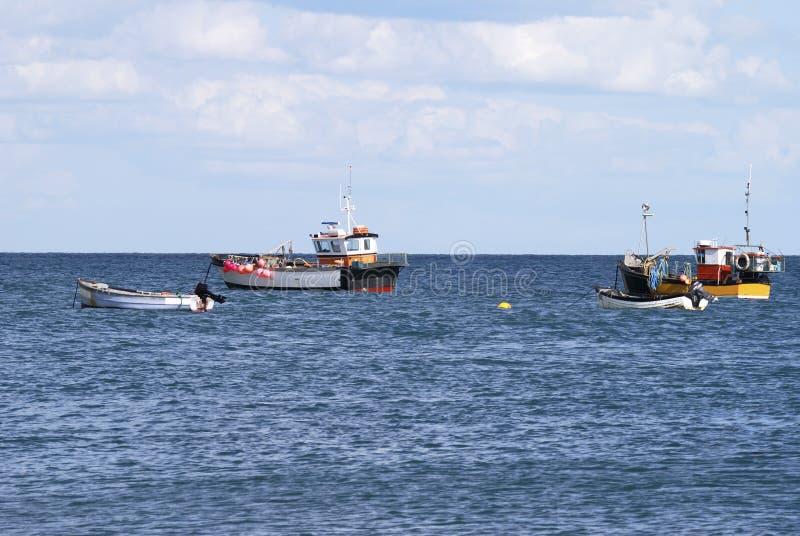 Fischerboote bei Selsey. Sussex. Großbritannien lizenzfreie stockbilder