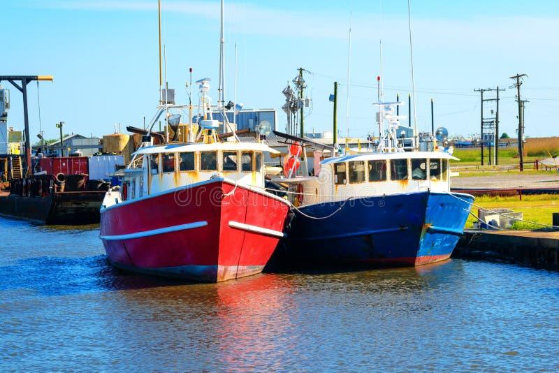 Fischerboote Louisianas stockfotos