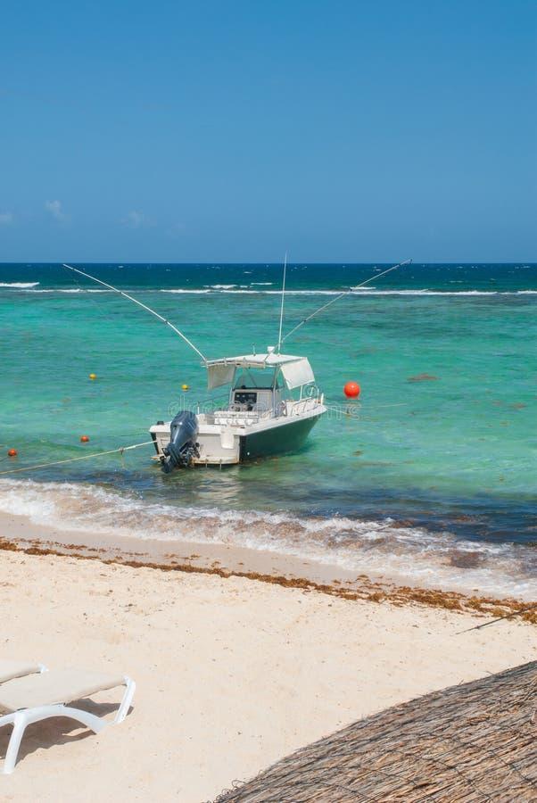 Fischerbootschuß in Tulum, im Yucatan stockfoto