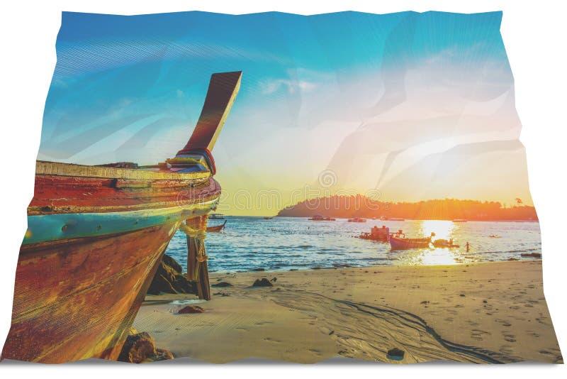 Fischerbootstrandaufflackern stockbild