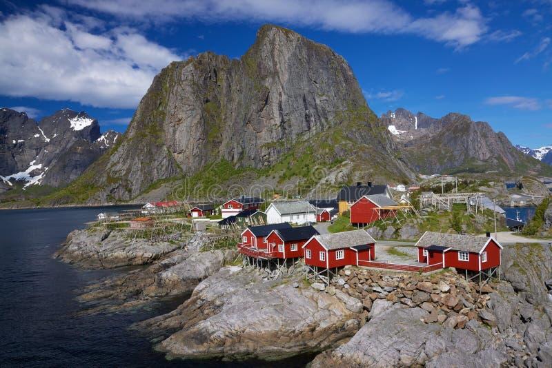 Download Fischerdorf stockfoto. Bild von fjord, haus, norwegen - 26354896