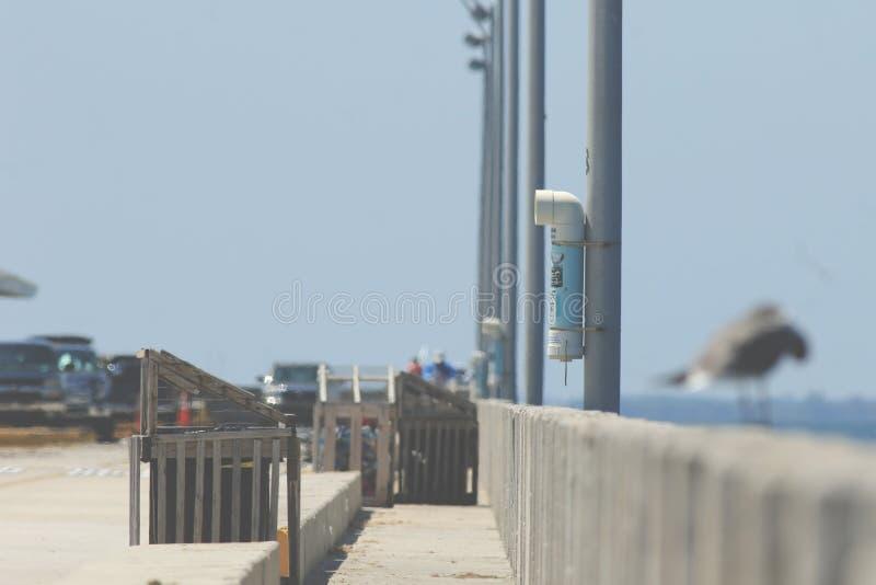Fischerei auf dem Pier stockfoto
