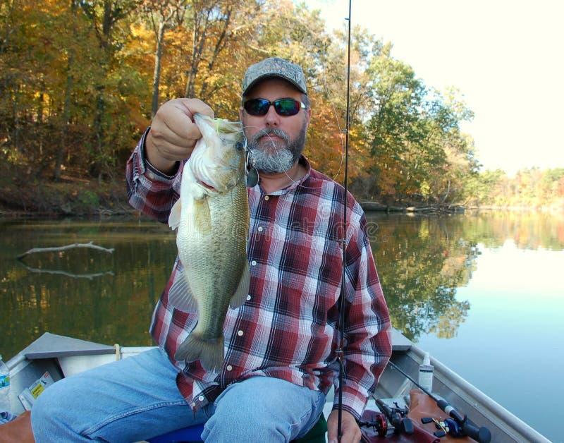 Fischerei für Barsch lizenzfreie stockfotos