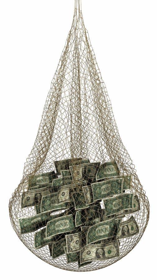 Fischerei für Geld lizenzfreie stockfotos