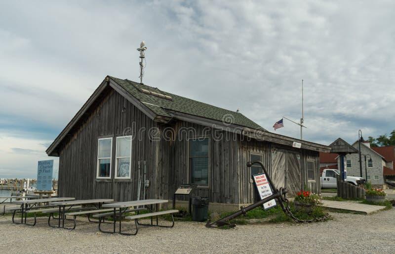 Fischerei Speicher in Fishtown - Leland, Michigan lizenzfreie stockfotos