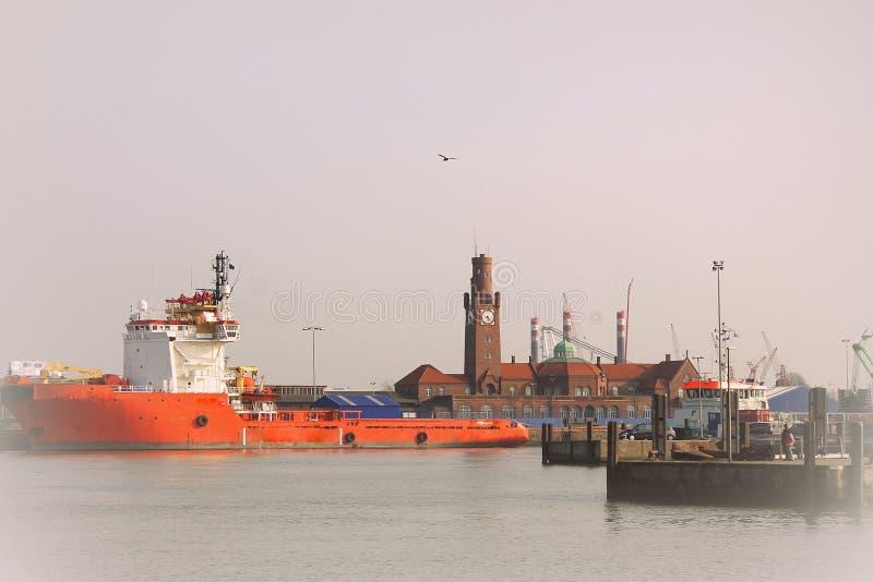 Fischereihafen hapag hallen in Cuxhaven stockfotos