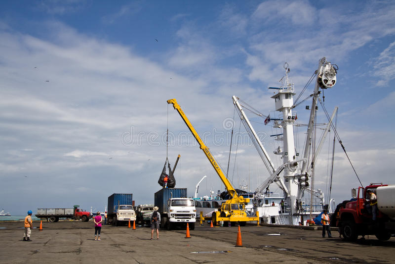 Fischereihafen im Manta, Ecuador lizenzfreie stockfotografie