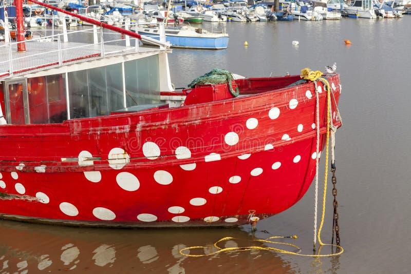 Fischereihafen von Santurtzi, Baskenland, Spanien lizenzfreies stockbild
