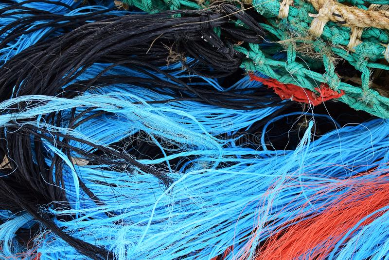 Fischernetz im Abschluss oben stockfotografie