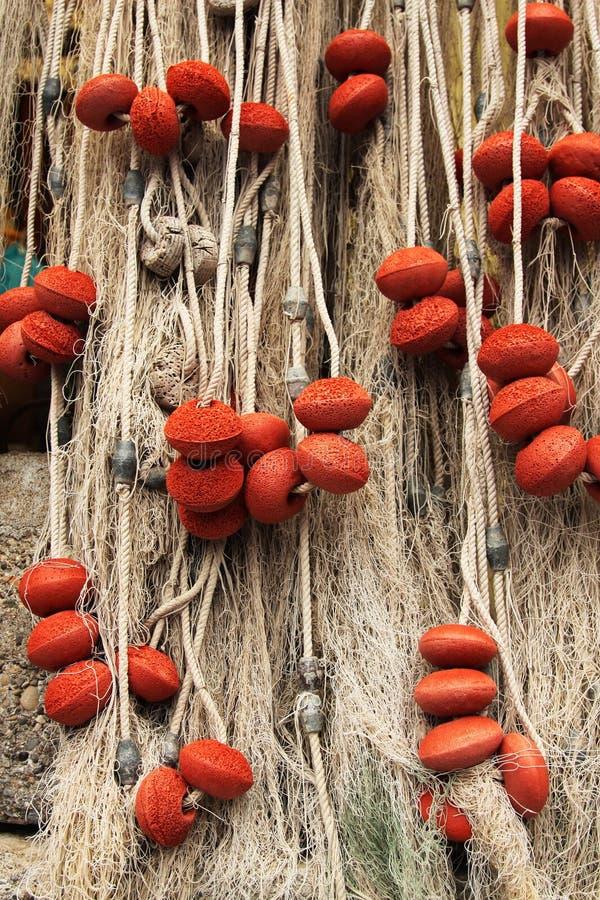Fischernetz im camogli stockfotografie