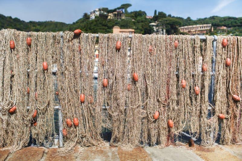 Fischernetz mit Hin- und Herbewegungen stockfoto