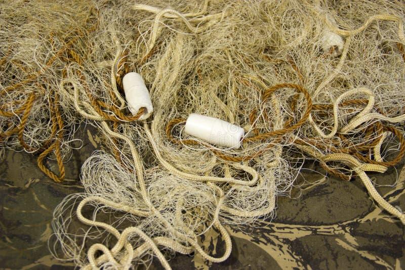 Fischernetz mit Hin- und Herbewegungen lizenzfreie stockfotografie