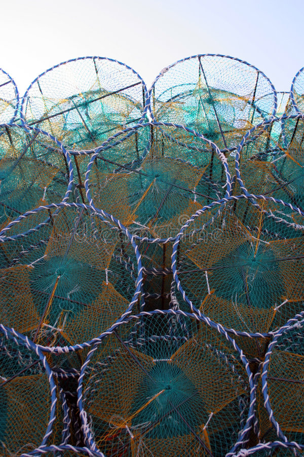 Fischernetze lizenzfreie stockfotos