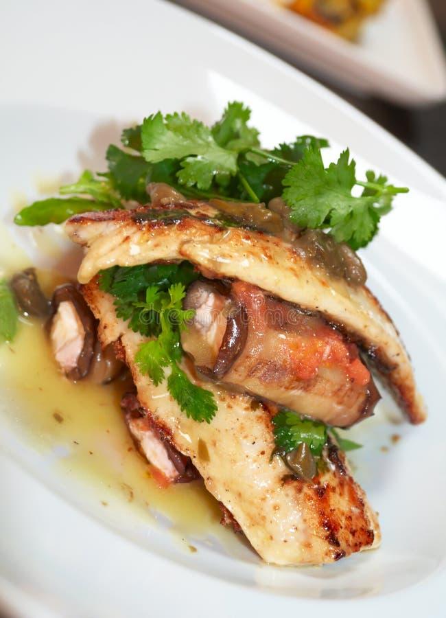 Fischgericht stockfotografie