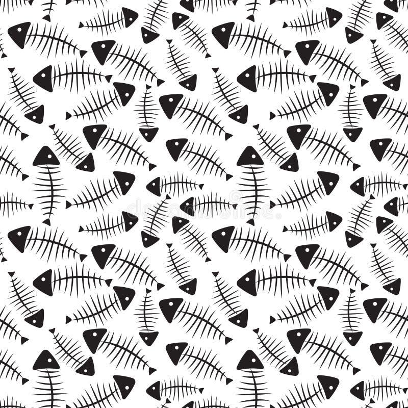 Fischgräte-nahtloser Muster-Hintergrund-Vektor Vektor Abbildung ...