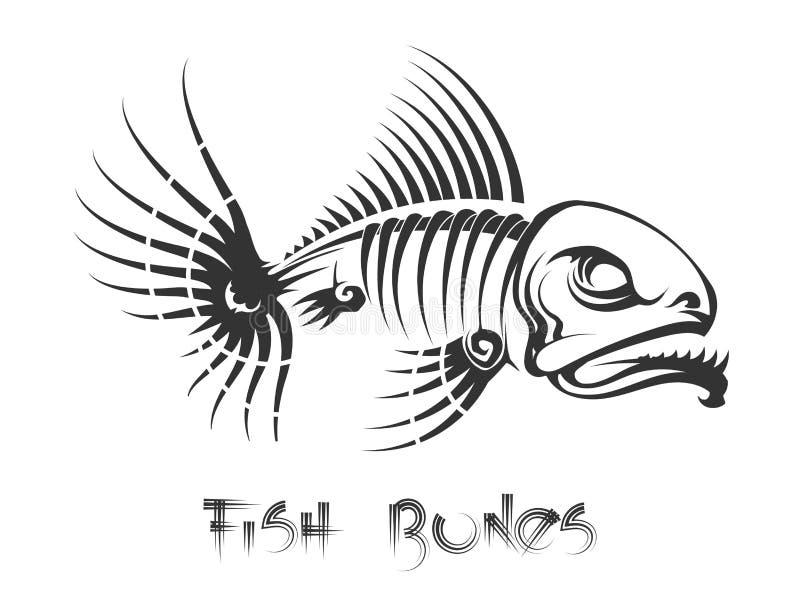 Fischgrätetätowierung lizenzfreie abbildung