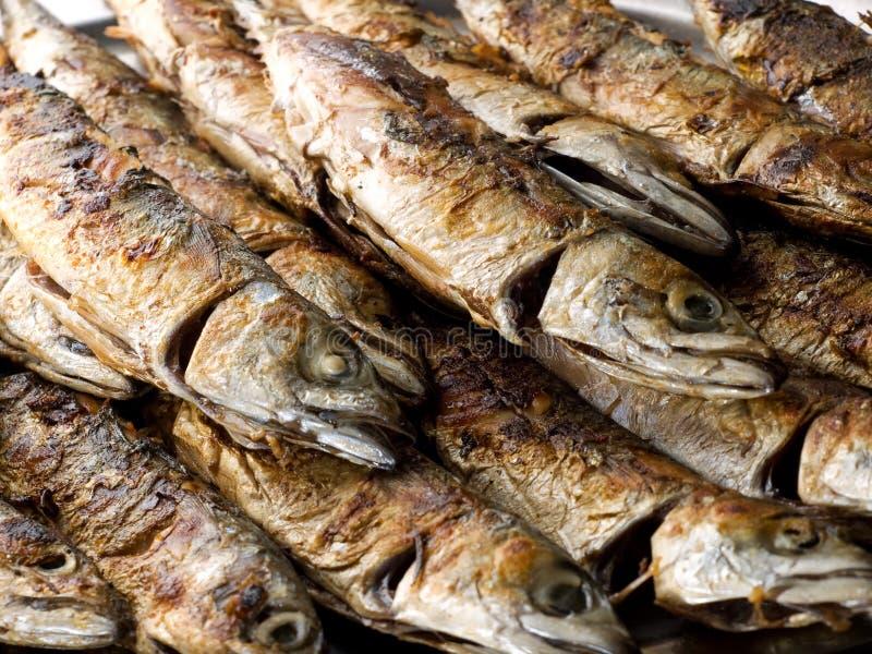 Fischgrill stockfoto
