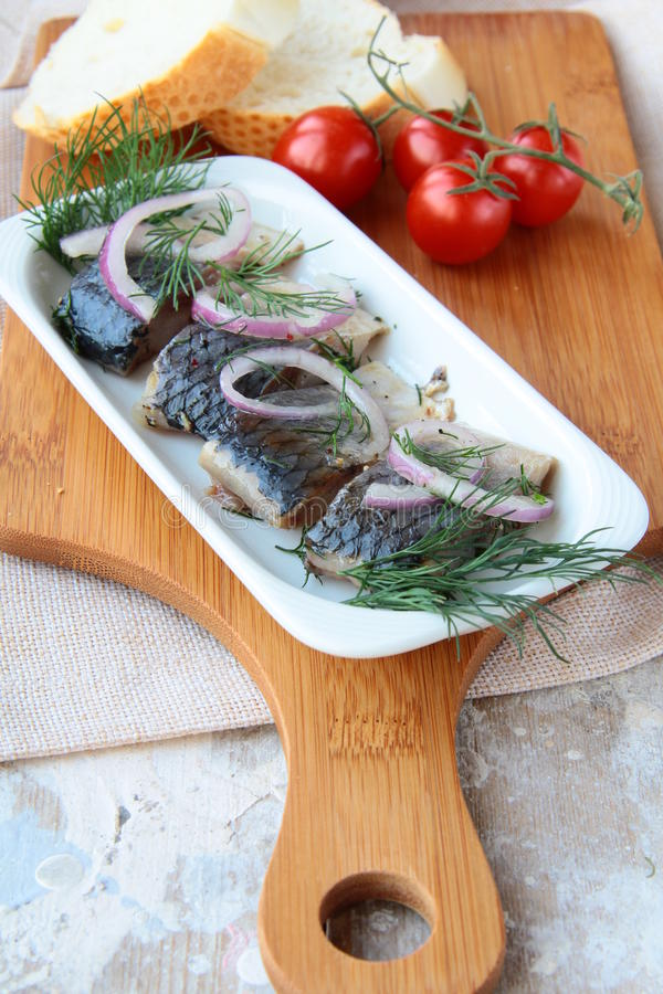 Fischheringe stockfoto