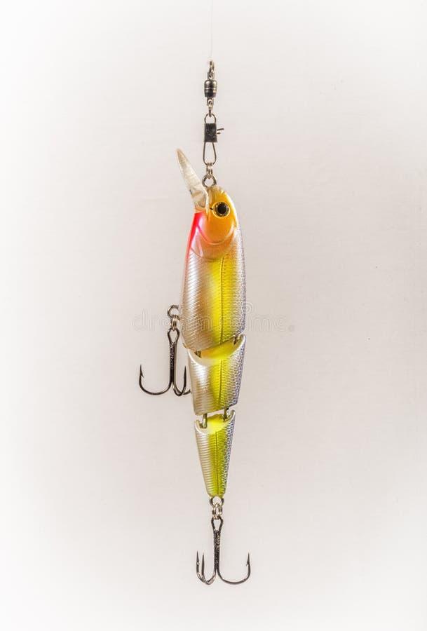 Fischköder mit dreifachen Haken stockbilder