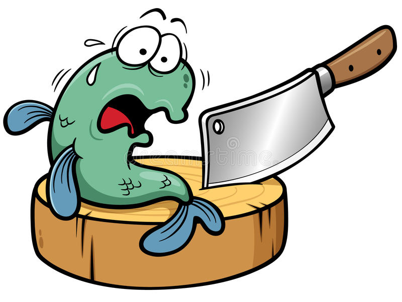 Fischkarikatur lizenzfreie abbildung