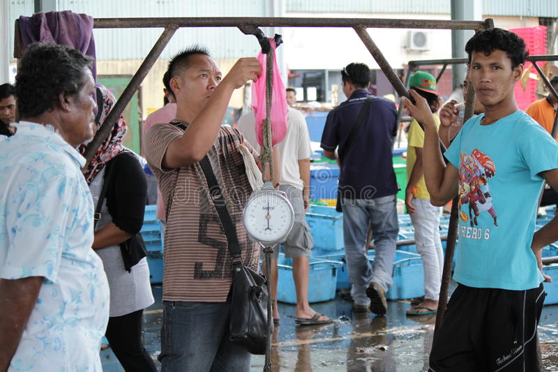 Fischmarkt in Hong Kong stockfotografie