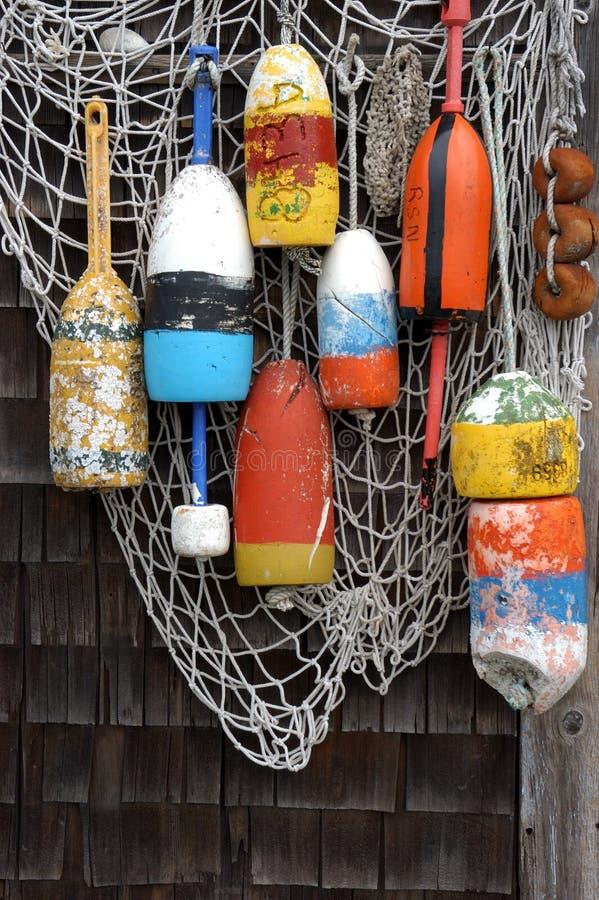 Fischnetze stockbilder
