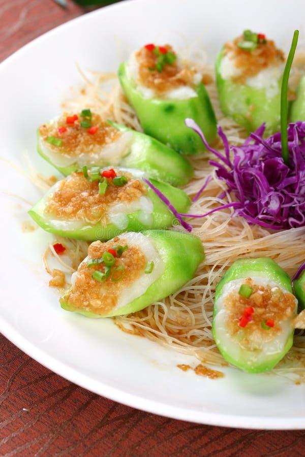 Fischrogen asiatischer Nahrungtuch Kürbis lizenzfreie stockfotos