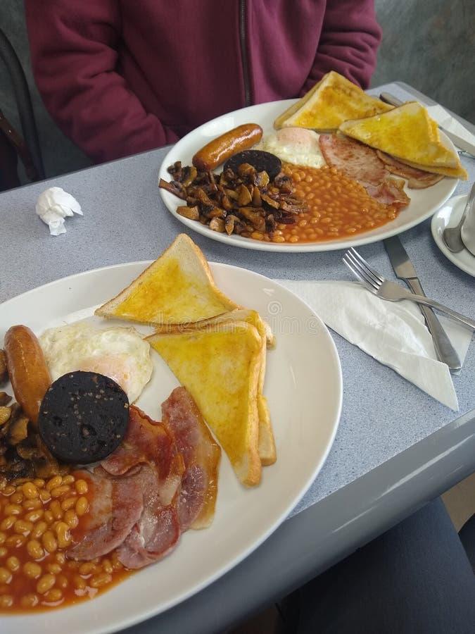 Fischrogen herauf Frühstück für zwei stockbild