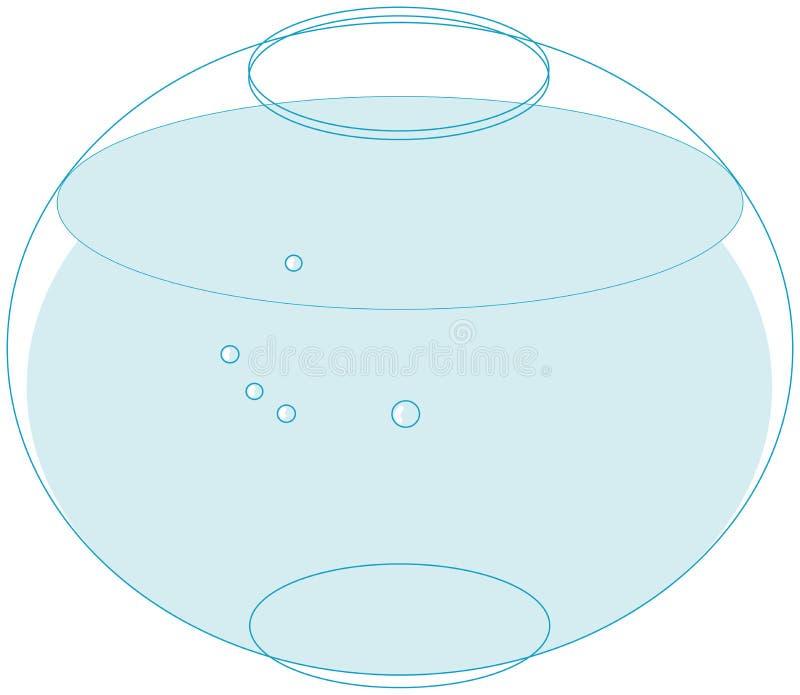 Fischschüssel vektor abbildung