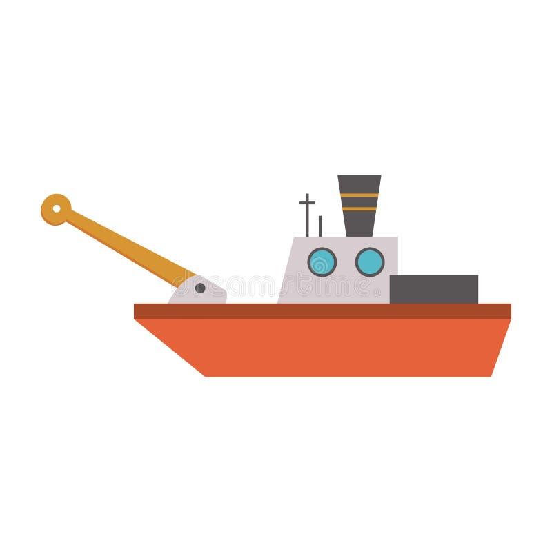 Fischschiffsboot lizenzfreie abbildung