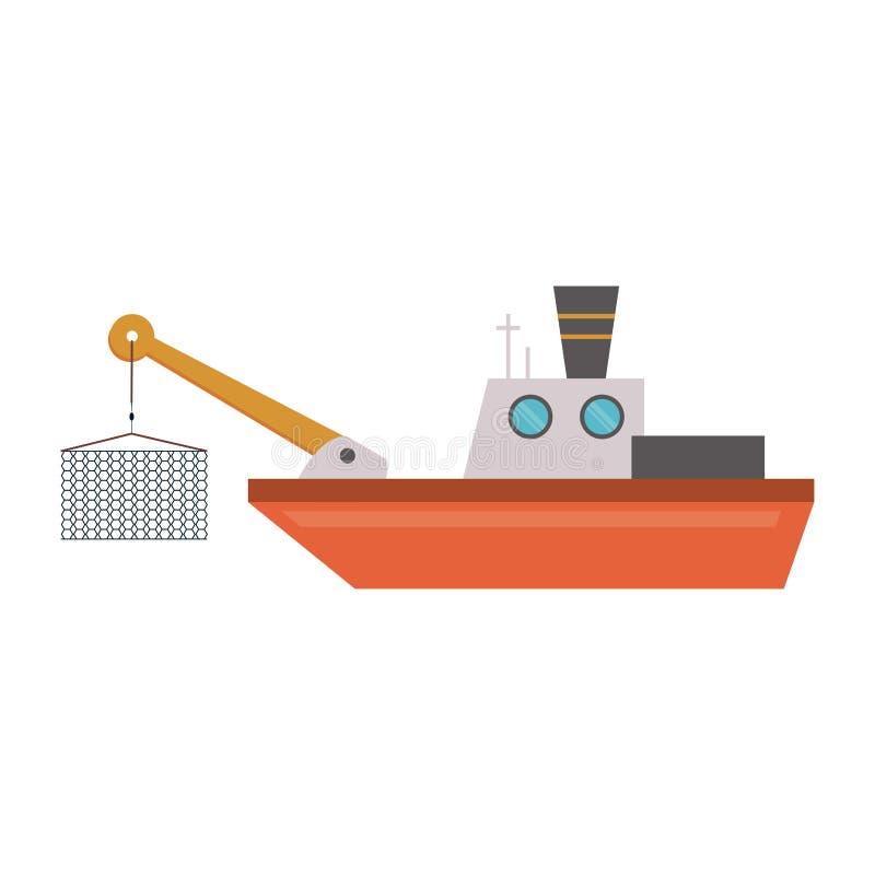 Fischschiffsboot stock abbildung
