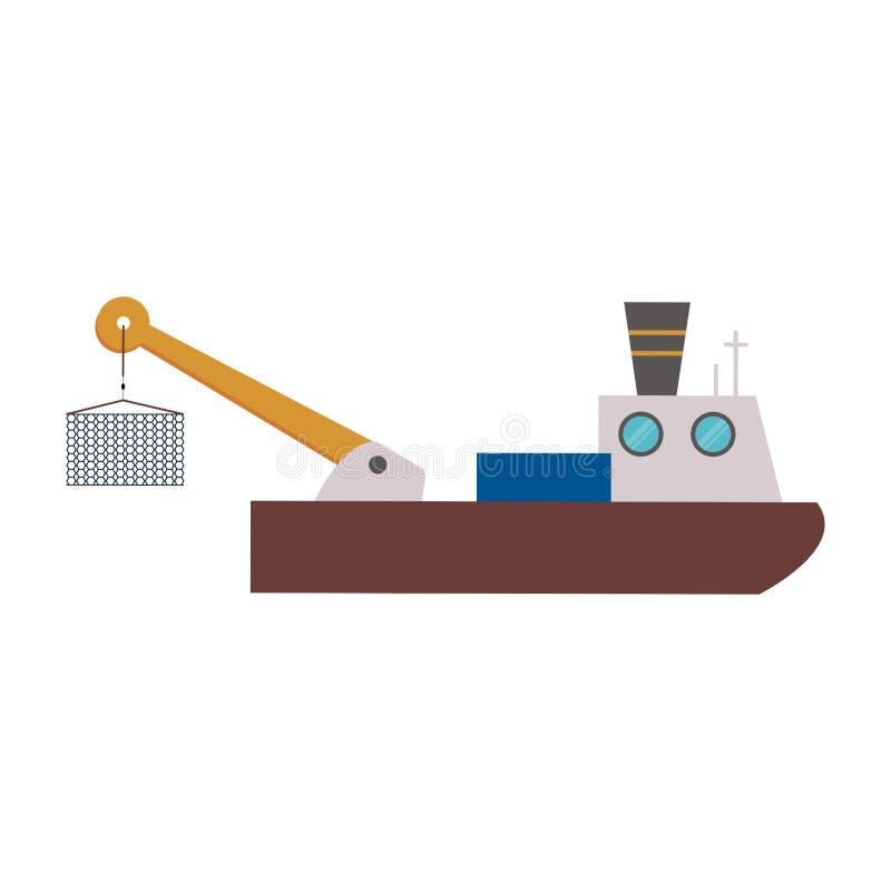 Fischschiffsboot vektor abbildung