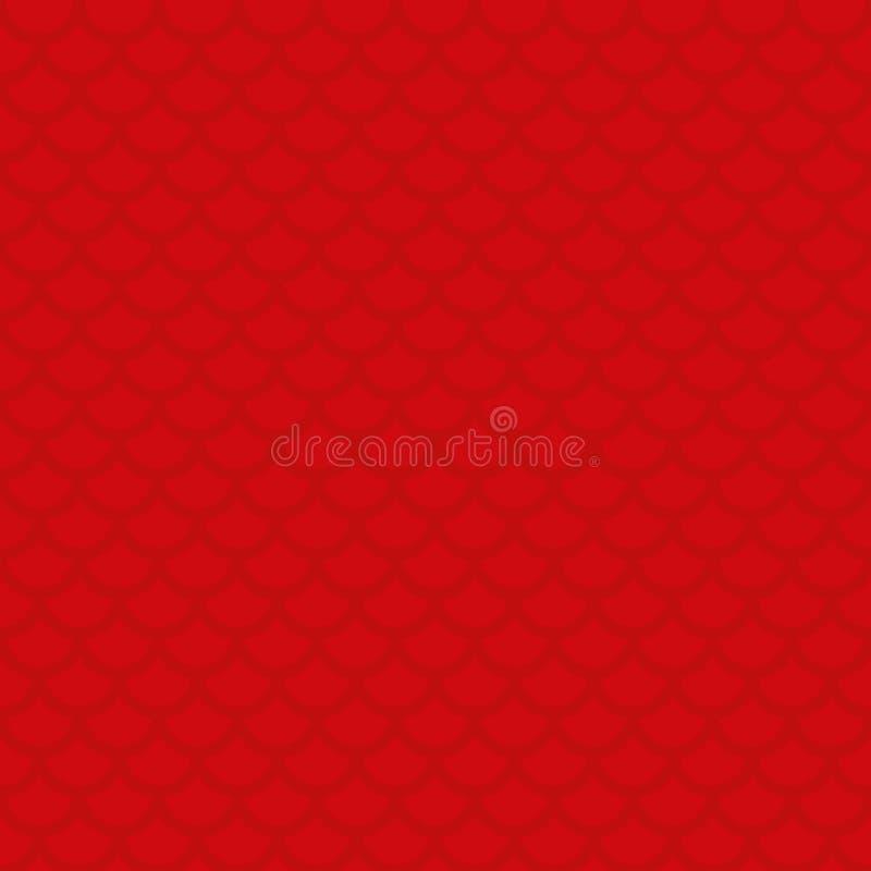 Fischschuppe Rotes neutrales nahtloses Muster für modernes Design in Florida vektor abbildung
