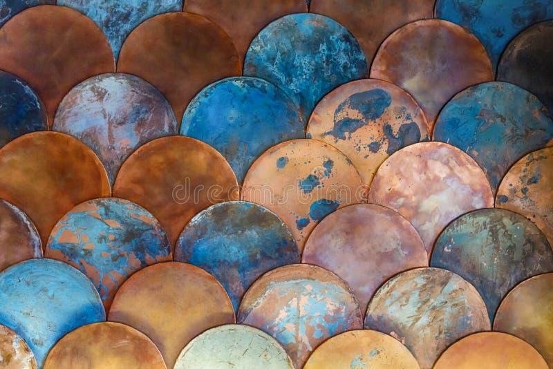 Fischschuppejapanermuster Abstrakter Hintergrund auf dem Marinethema lizenzfreie stockfotografie