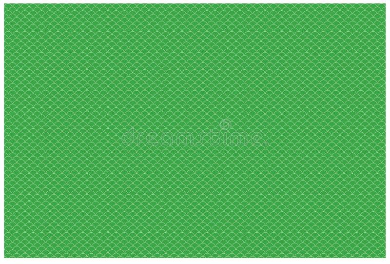 Fischschuppen kopieren Illustration Grüne Fischschuppemusterbilder stockbilder