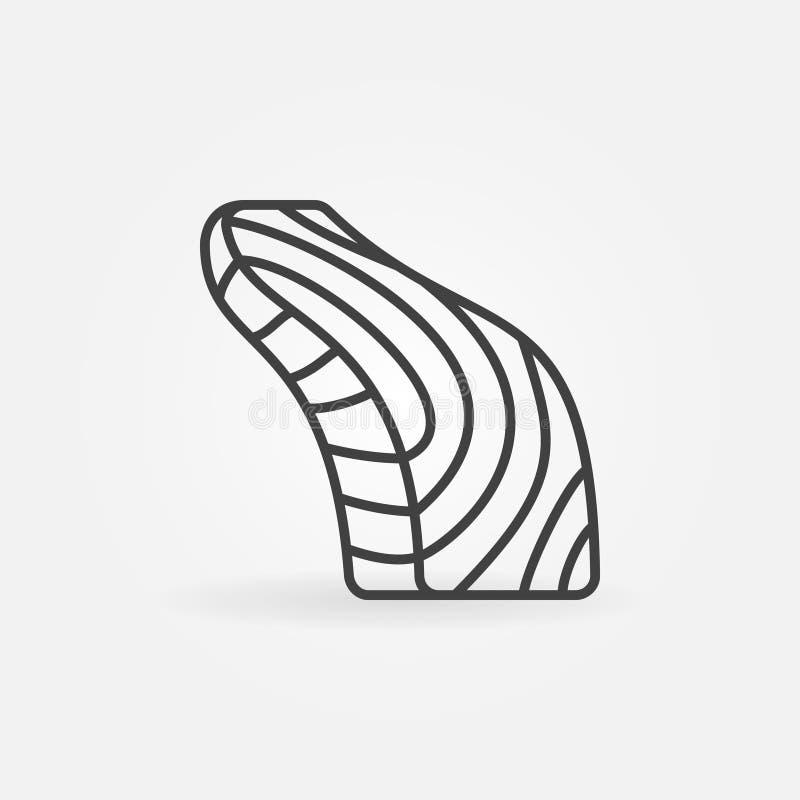 Fischsteak-Vektorentwurfsikone Lachsfischscheibensymbol vektor abbildung